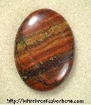 Red Jasper with Hematite Cabochon